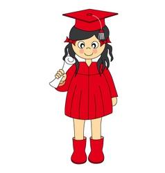 girl graduation vector image vector image