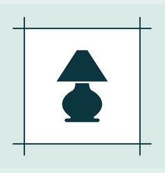lamp icon simple light sign vector image
