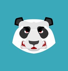 panda angry emoji chinese bear aggressive emotion vector image vector image