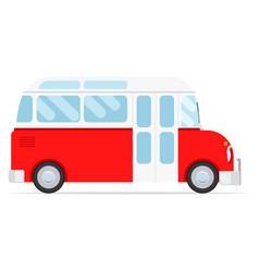 red cartoon bus vector image vector image