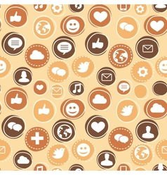 seamless pattern with social media icons vector image