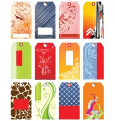 set of sale tags vector image