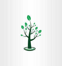 tree with green leaves icon sign design element vector image