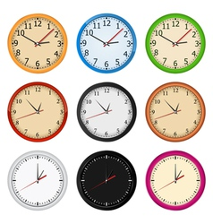 wall clocks vector image vector image