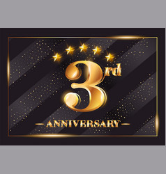 3 year anniversary celebration logo 3rd vector image