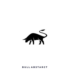 abstract bull template vector image