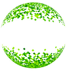 Abstract green 3d ball vector