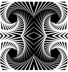 abstract mirrored vortex background pattern vector image