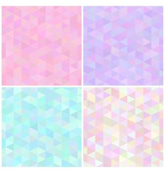 Abstract triangular seamless patterns vector image
