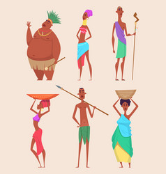 african people authentic traditional characters vector image