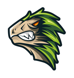 animal head - dinosaur - logoicon mascot vector image