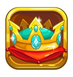 App store icon with golden crown vector image