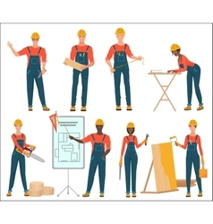 Architect and construction builders workers Civil vector