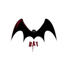 bat design template vector image