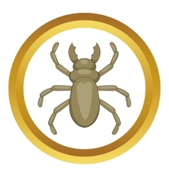 Beetle woodworm icon vector