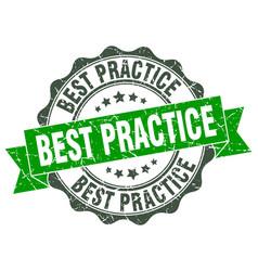 Best practice stamp sign seal vector