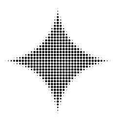 Black pixel sparkle star icon vector