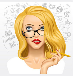 blonde business woman vector image vector image