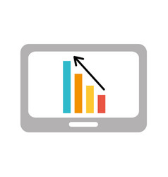 Business table with financial chart economy data vector