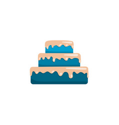 cake icon flat vector image