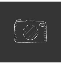 Camera Drawn in chalk icon vector
