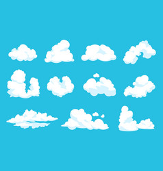 cartoon clouds sky atmosphere blue heaven 2d vector image