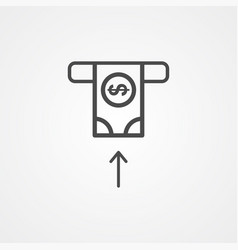 cash withdrawal icon sign symbol vector image