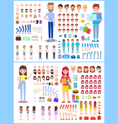 character man with woman vector image