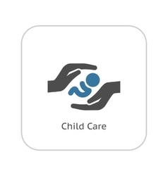 Child Care Icon Flat Design vector image