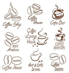 coffee shop signs vector image