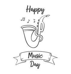 collection stock music day celebration vector image