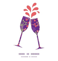 colorful garden plants toasting wine vector image