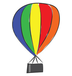 Colorful parachute or color vector