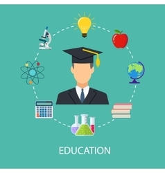concept of school education study training vector image