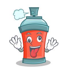 Crazy aerosol spray can character cartoon vector