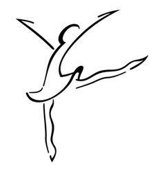 Dance symbol vector image
