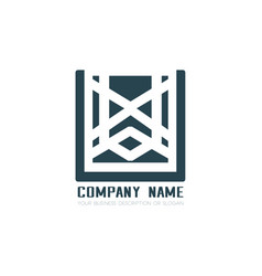 design geometric logo vector image