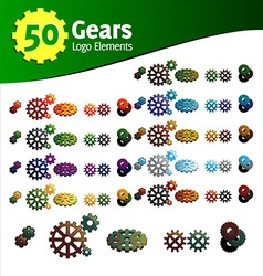 gears logo set vector image