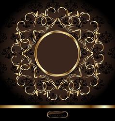 Golden ornate frame vector