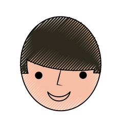 Head man avatar character vector