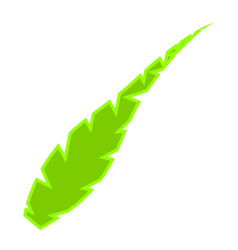 isolated green feather icon vector image