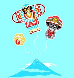 Japanese kites vector image