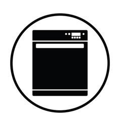 Kitchen dishwasher machine icon vector