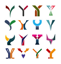 letter y business icons and symbols vector image