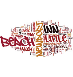 Little inn newport beach text background word vector