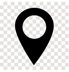 location pin icon on transparent map marker sign vector image