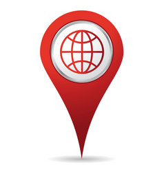 location world icon vector image