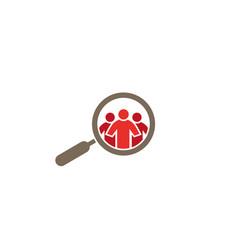 Loupe people spy logo design vector