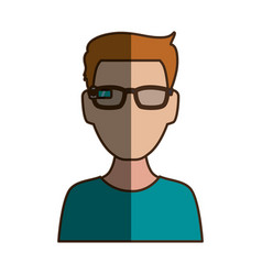 Man faceless iglasses vector