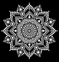 Mandala dot art aboriginal dot painting r vector